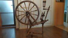 "Antique XIXc.  wooden SPINNING WHEEL Sweden with  Big Wheel 27"""