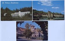 5 Vintage  Chrome St. Helena California Postcards