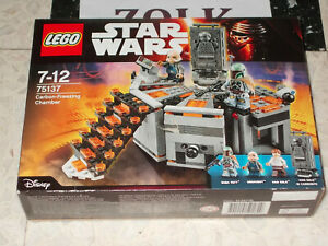 LEGO 75137 STAR WARS CARBON-FREEZING CHAMBER HAN SOLO NEUF SCELLE 4 figurine