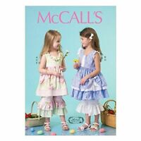 McCalls Sewing Patterns 7110 Girls Childs Dress Pants & Necklace Size 6-8