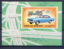 Automóviles, car, ford-Umm al-Kaiwain-bl.52 ** mnh 1972