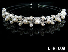 Silver Plated Crystal Wedding Bridal Headband Tiara Hair Band Diamante DFK1009