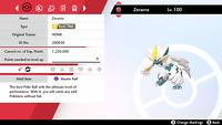 6 IV Square Shiny HOME Zeraora for Pokemon Sword and Shield