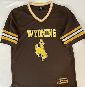 Wyoming Cowboys Brown Jersey Men's Sz XL