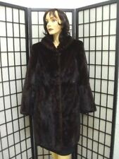 !MINT CANADIAN DARK RANCH MINK FUR JACKET COAT WOMEN WOMAN SZ 10 MEDIUM
