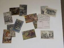 14 Wwi German Postcards Soldier Ww I Post Card Letters Ww1 Ww I War Lot