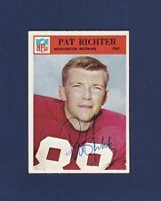 Pat Richter signed Washington Redskins 1966 Philadelphia football card