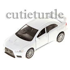 "4.75"" Welly Mitsubishi Lancer Evolution X 1:32 Diecast Toy Car 4365D White"