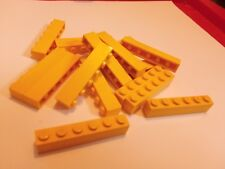 Lego Piece 3009 Brick 1x6 yellow x15 construction CITY CASTLE CREATOR