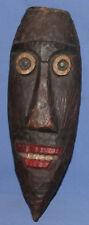 Vintage hand carved wood wall decor mask