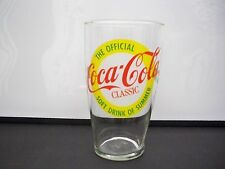 COCA-COLA CLASSIC SOFT DRINK OF SUMMER GLASS