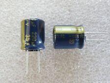 4 condensateurs 220uF 35V 105°C Panasonic FC