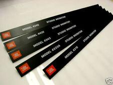 JBL Monitor Grill Bar - Badges 4300 series ALUMINUM NICE! (2pc) Pair