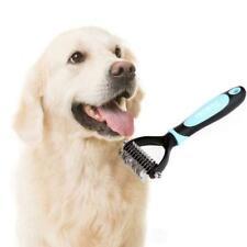 Pet Stainless Steel Fur Brush Dog Hair Shedding Flea Trimmer Grooming Rake Comb
