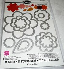 Sizzix Framelits Dies FLOWER LAYERS & LEAF