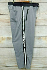 Rocawear Joggers Mens Size 5XL Grey Zipper Pocket Sweat Jogger Pants New