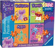 Ravensburger SCHOOL OF ROARS MY FIRST PUZZLES (2,3,4,5PC) Toys Games BN