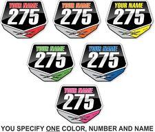 Motocross Mini Number Plate Sticker Decal Custom just for You! Honda Yamaha KTM