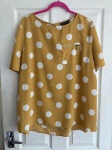Yellow Spot Polka Dot Top Sz 20