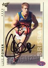 ✺Signed✺ 2003 BRISBANE LIONS AFL Premiers Card LUKE POWER