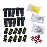 10 Kit 2 Pin Way Waterproof Electrical Wire Connector Plug DT