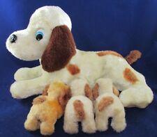 RARE Vintage Iwaya RVT Toy Nursing Mother Dog and Puppies