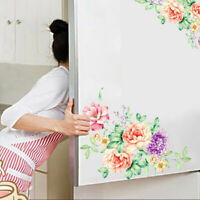 Colorful Flowers 3D Wall Stickers Beautiful Peony Fridge Stickers Wardrobe Toile