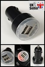 USB DUAL 2 in 1 CAR CHARGER 12V-24V CIGERETTE SOCKET LIGHTER BLACK IPHONE 5,6,7