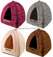PERSONALISED Luxury Soft Small Pet BED Gift For CATS Kittens WASHABLE Carrier