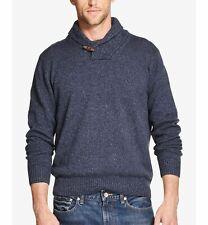 $158 Weatherproof Vintage Men'S Blue Shawl Collar Knitted Sweater Long Sleeve L