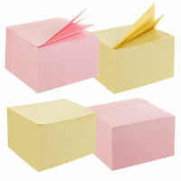 """960 Adhesive Sticky Notes 75 x 75mm 3 x 3"""" (2 Packs of 480) Memo Jot Pad Jotter"""