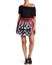 L.A.M.B. Red Print Mini Skirt Size 8 RETAIL 254$ SOLD OUT