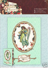 Docrafts Papermania A5 3D die cut decoupage card kit Victorian Christmas angels