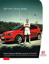 PUBLICITE ADVERTISING 104  2005  FIAT ALTEA MONOSPACE  JOE MC ENROE