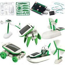 USD - 6 in 1 Solar DIY Educational Kit Toy Boat Fan Car Robot FG