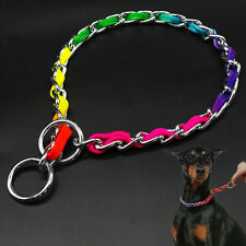 Colorful Dog Chain Collars Pet Choke Choker Large Dog Necklace Neck Up to 24""