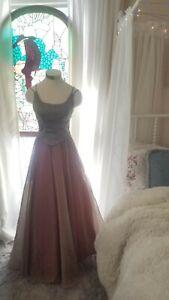 Size 6 Vintage 90s Black Velvet Devor\u00e9 Long Evening Gown Sheer Floral Print /'Ice/' Brand Tank Dress Slip Included Bias Cut New Years.