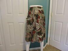 Womens Vintage Reina A-Line Geometric Elastic Waist Skirt Sz 14 Usa Guc