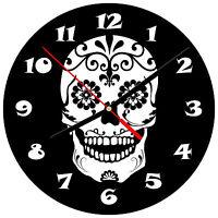"""8"""" WALL CLOCK Sugar Skull 11 Dia de los Muertos Day of the Dead Halloween Tattoo"""