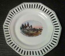 "Vintage New Liskeard Ontario Ceramic Trinket Dish by Schumann Bavaria 4.75"" D"