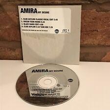 AMIRA My Desire CD ~ UK VC Recordings ~ 1998 4 Track Promo
