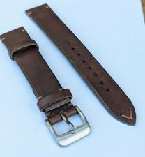 20MM VINTAGE STYLE LEATHER WATCH STRAP BRAND NEW BROWN 1 PIECE