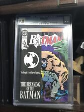 breaking of the BATMAN #497 CGC 9.8 ☞ Bane breaks Batman's back ☜ Knightfall 11