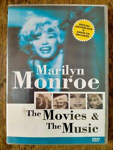 Excellent MARILYN MONROE The Movies & Music DVD & CD (Reg Free) 2 Disc RARE