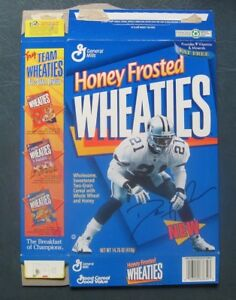 Deion Sanders--Dallas Cowboys--1995 Honey Frosted Wheaties Cereal Box