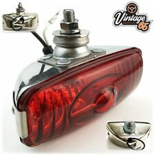 12V Polished Stainless Steel Chrome Rear Foglight Fog Lamp Classic Car etc