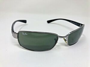 Ray Ban Sunglasses RB3364 004 62-17 G15 Black Gunmetal Green Glass Lens -264