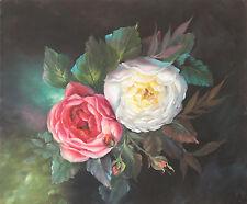 Roses on Black Study