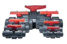 "PVC 3"" Double Union Ball Valve - Durable - Smooth Handle - Made in Taiwan"