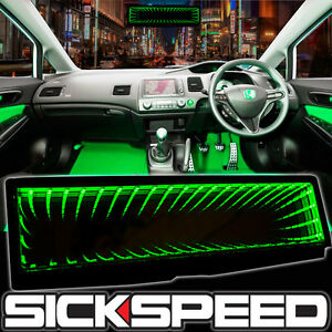 SICKSPEED GALAXY MIRROR LED LIGHT CLIP-ON REAR VIEW WINK REARVIEW GREEN P3